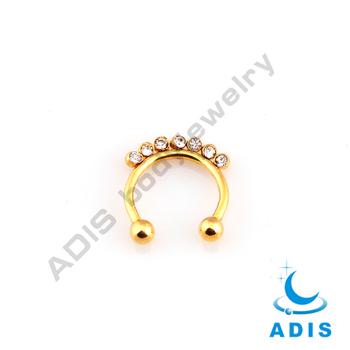 Segment Clear Czechic Septum Ip Gold Horseshoe Cock Ring Buy Horseshoe Cock Ring Gold Horseshoe Ring Clear Czechic Septum Ring Product On Alibaba Com