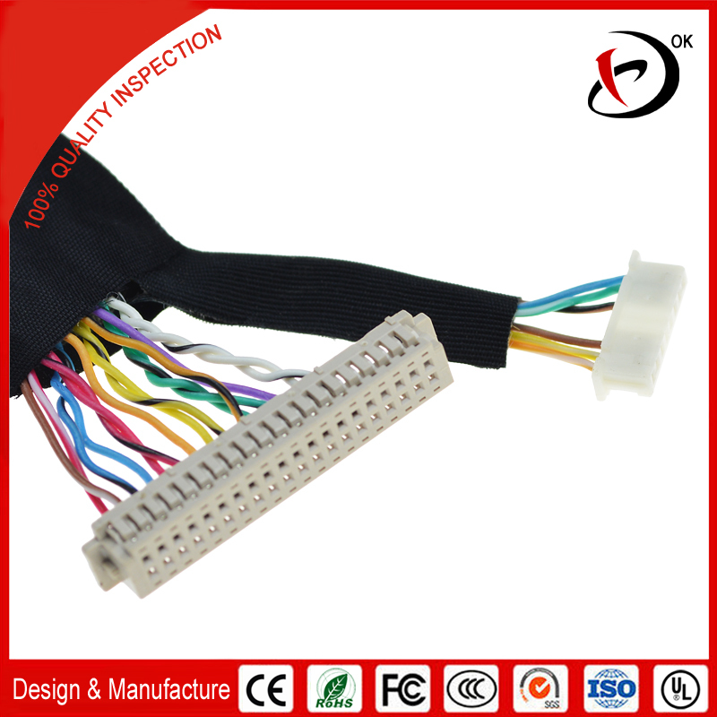wiring harness lvds cable suitable for tv panel to panel main wiring harness lvds cable suitable for tv panel to panel main board connections