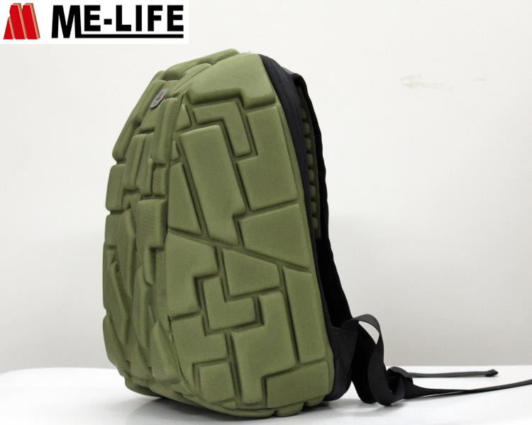 Turtlre EVA back backpack bags with headphone jack