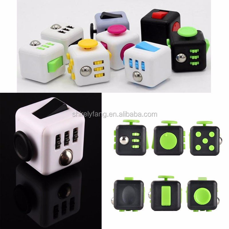 2017 Hottest Puzzles & Magic Cubes 11 Styles Fidget Cube Toys ...