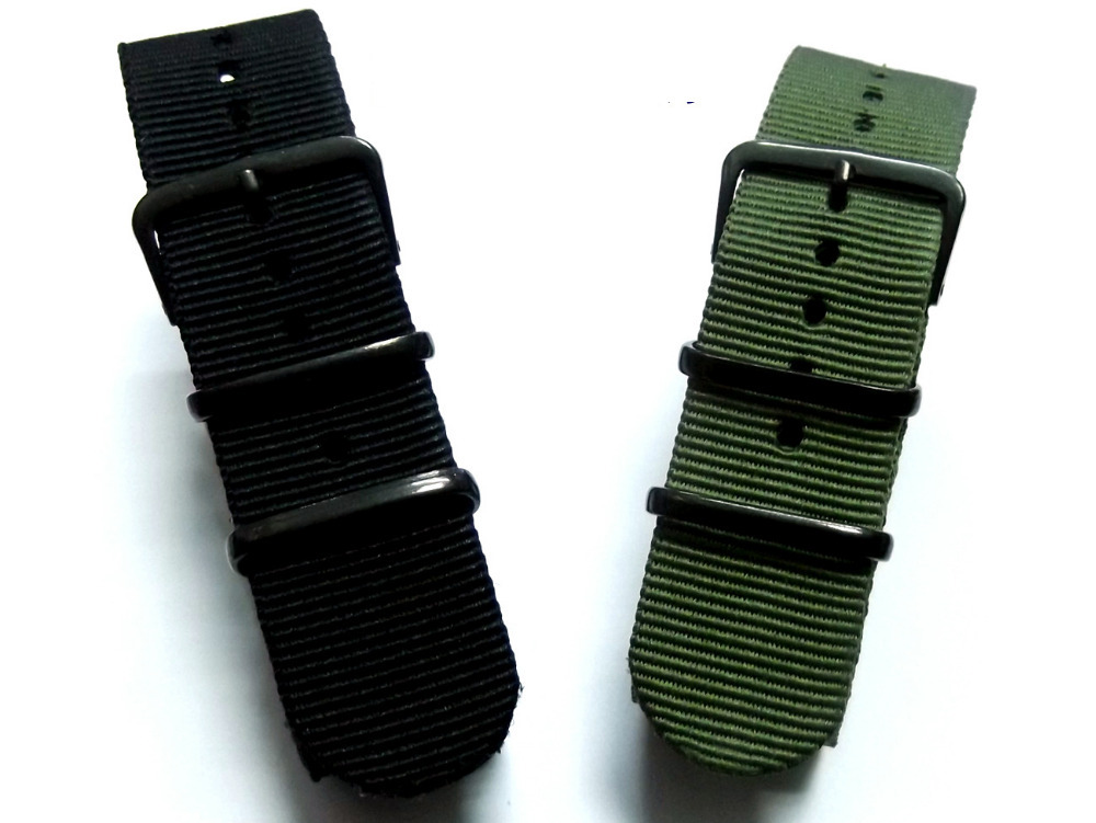 High Quality Waterproof NATO Nylon Watch Strap Belt 20 22mm Black Army Green Pin Buckle G10 Military Nylon Watchband Accessories