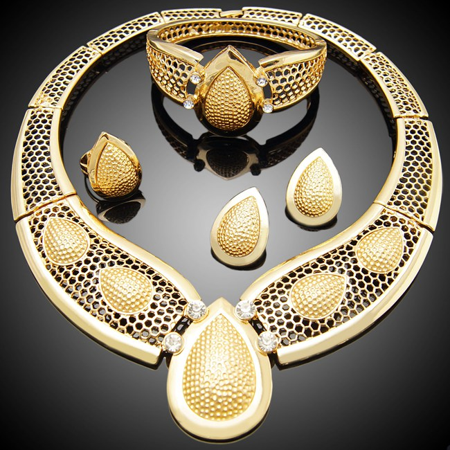 African Beads Jewelry Set /Artificial Kundan Bridal Jewellery Sets/18k Gold Plated Jewelry