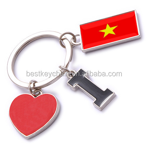 new custom metal souvenir Vietnam key chain