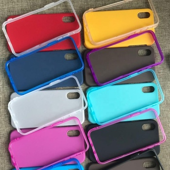 Anti-fall single color leather spray oil design phone case back cover
