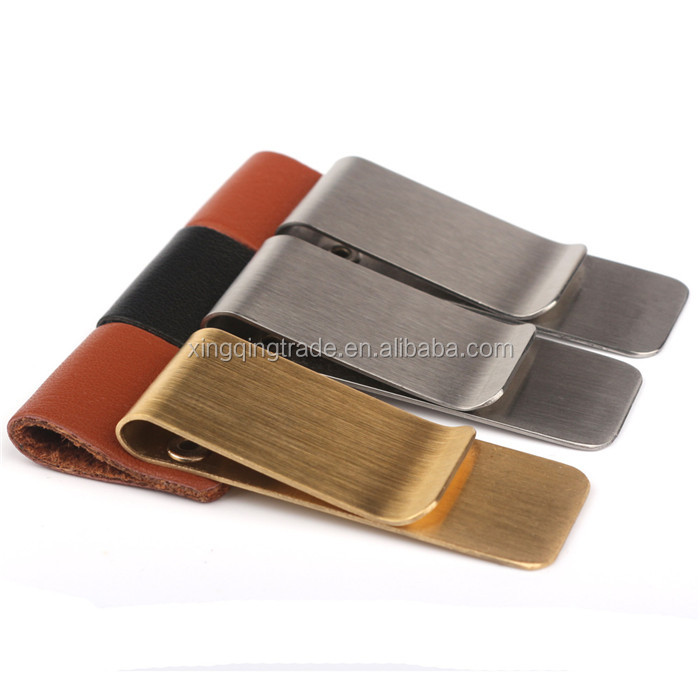 High Quality Stainless Steel Metal Money Clip Fashion Simple Gold Silver Dollar Cash Clamp Holder Wallet for Men