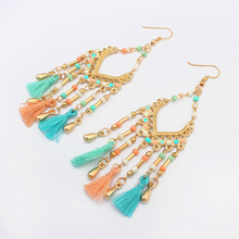 2018 seed beads fashion earring wholesale, Cheap tassel handmade earrings in bulk