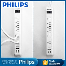 Dual 3 pin usb power adaptor plug fused universal electrical socket 220v outlet multiple usb charger port detachable power strip