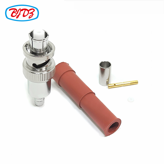 RF Coaxial cable connector high voltage 5000V male SHV connector for cable RG59