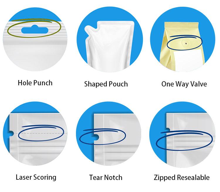 Folha de alumínio personalizado impresso doy pack prata stand-up stand up ziplock doypack zipper sacos bolsa com janela
