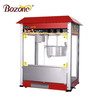 CE Approved Industrial Snack Equipment Red Top Gas Automatic Sweet Cheap Price Commercial Big Electric Popcorn Machine
