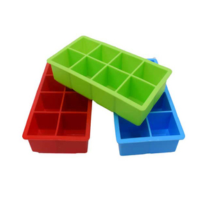 Wholesale Promotion 8 Cups Square silicone ice cube tray with lid