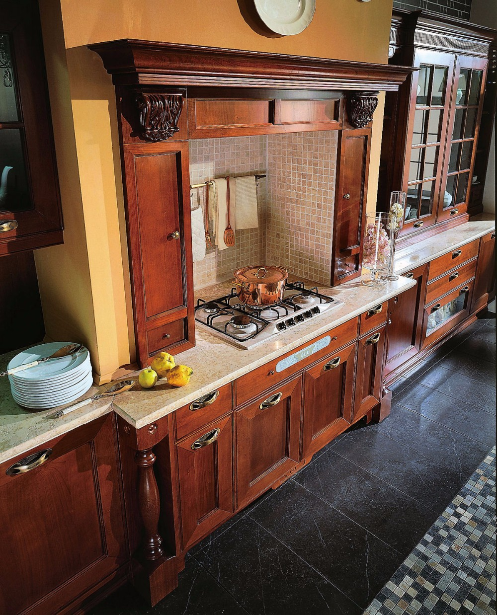 Solid Wood Kitchen Cabinet Designs Modular Kitchen Cabinets China ...