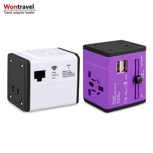 Portable Universal Wireless WiFi USB Travel Adapter for Smartphone, Dual USB 2500mA Output