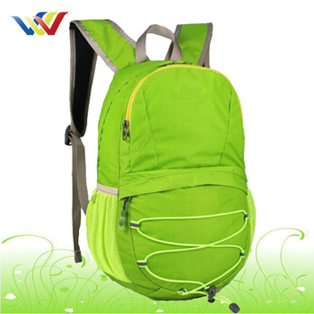 Small design Waterproof Camping Backpack in light green color