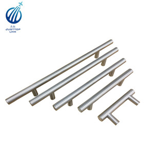 Stainless Steel Modern Cabinet Drawer Handle Pulls Kitchen Cupboard T Bar Knobs and Pull Handles Brushed Nickel