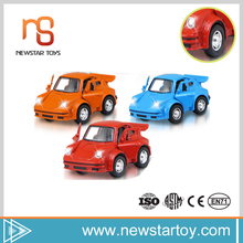 Fashion china supplier funny cute kids 1:38 smart car diecast toys with music and light