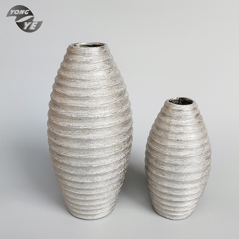 Venta al por mayor jarrones modernos decorativos plateados compre online los mejores jarrones - Jarrones plateados ...