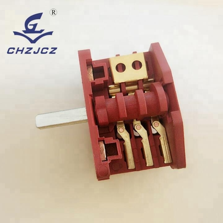 High-temperature electrical oven selectors switch
