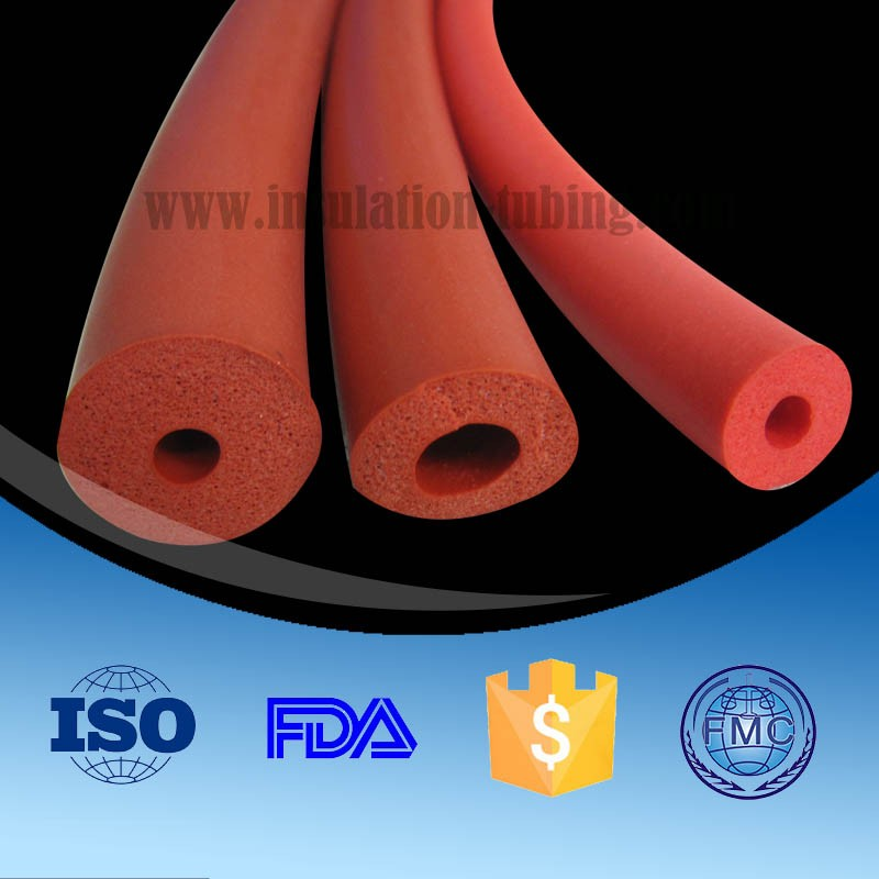 10Mm Open Cell Hollow Round Silicone Foam Sponge Tube