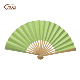 new style natural bamboo ribs drawing of design of palm hand fan paper gift fan for guests wedding hand fan