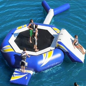 Inflatable Trampoline Floating Water Park Games Swimming Water Pool Air Bouncer Inflatable