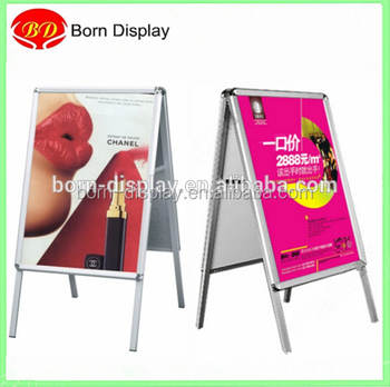 Factory Price Back Wooden Board A1 A0 Size Aluminum Advertising Boards Double Side For Outdoor Promotion Display Buy Advertising Boards Double