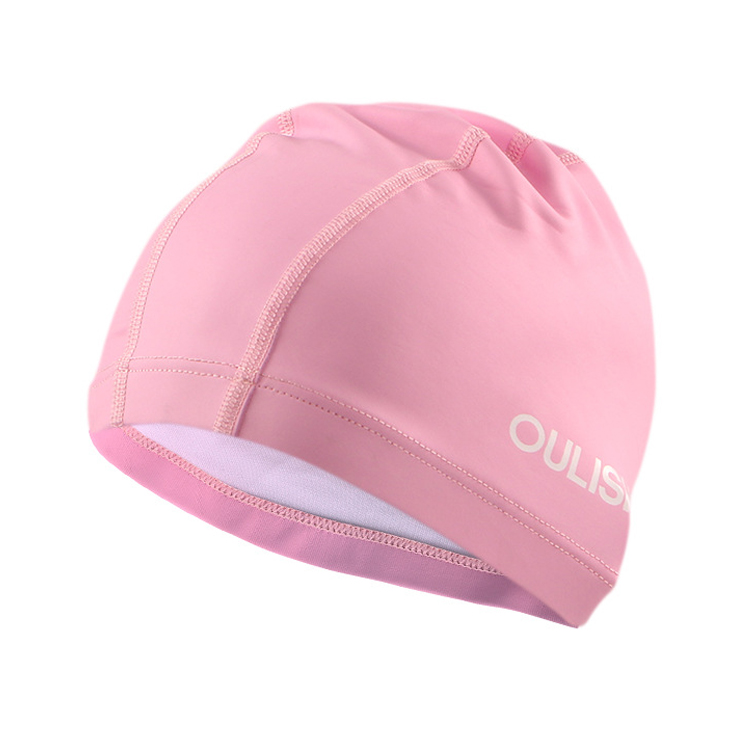 OEM Acceptable PU coated durable lycra novelty swimming cap with logo