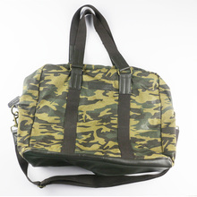 Large Canvas Leather Handbag, Weekend Trip duffel Bag