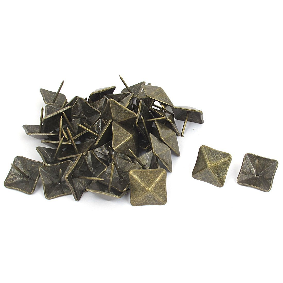 uxcell Antique Style Square Shaped Map Pins Thumb Tacks 19mm Dia 40 Pcs