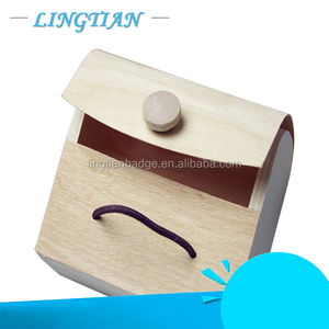 high quality and cheap price wooden bag shaped box