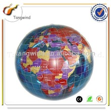 TW2136 Eco-friendly Promotion Printed PVC Globe Inflatable Beach Ball