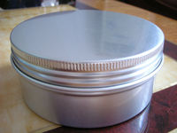 small tin containers with lids,airtight metal coffee container,2oz aluminum candle tin