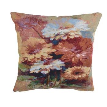 Sofa use floral yarn dyed flower painting cushion cover