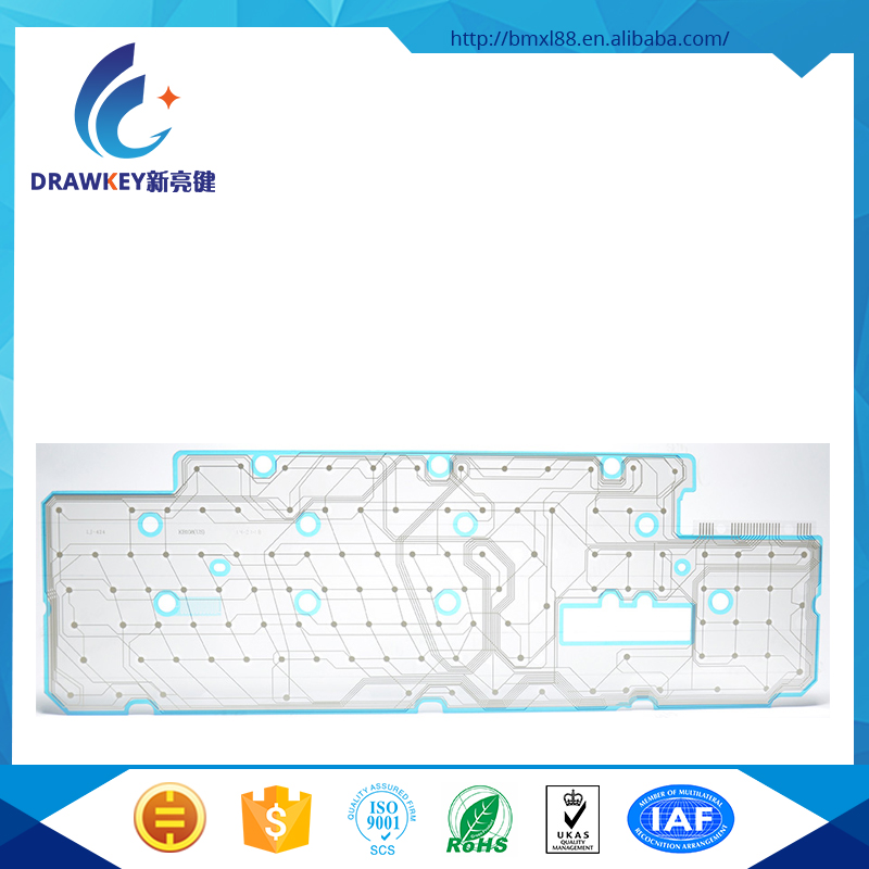 2016 New design screen Printing and Conductive Ink for back light computer keyboard