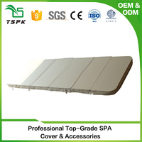 2017 insulation artificial leather fabric PVC in ground spa covers