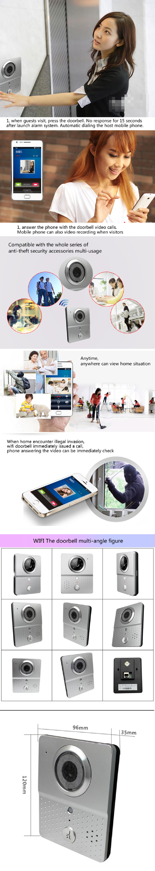 Home Security Alarm System Wireless Wifi Motion Sensor Wifi ...