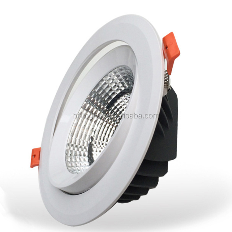 HKW Indoor Luminaires ultraslim waterproof indoor ceiling recessed 30W 10W 7w cob led ceiling <strong>downlight</strong> with CE Rhos Saso