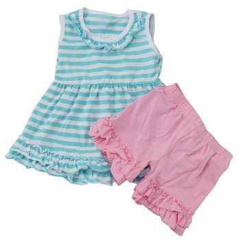 2016 Hot Sell Custom Design Baby Clothes Ruffled Pants Toddler Girl