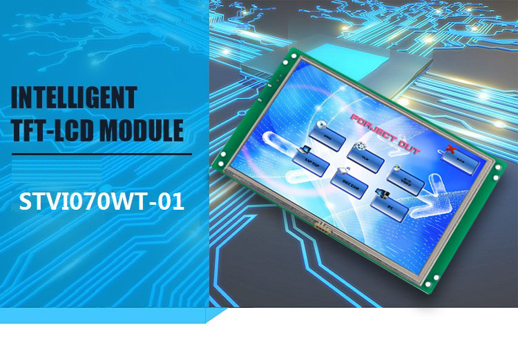 7 inch 800x480 Programmable TFT LCD Display with Touch Screen Support Any Microcontroller