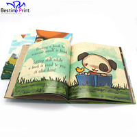 Colorful story children books kids book printing hardcover