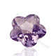 Purple flower shape cubic zirconia high quality wuzhou cz stone flower cz for sale