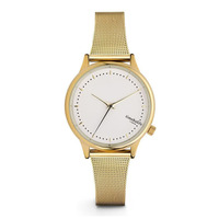 New Design Stainless Steel Minimalist Dial and Mesh Band Strap Custom Brand Gold Lady Watch