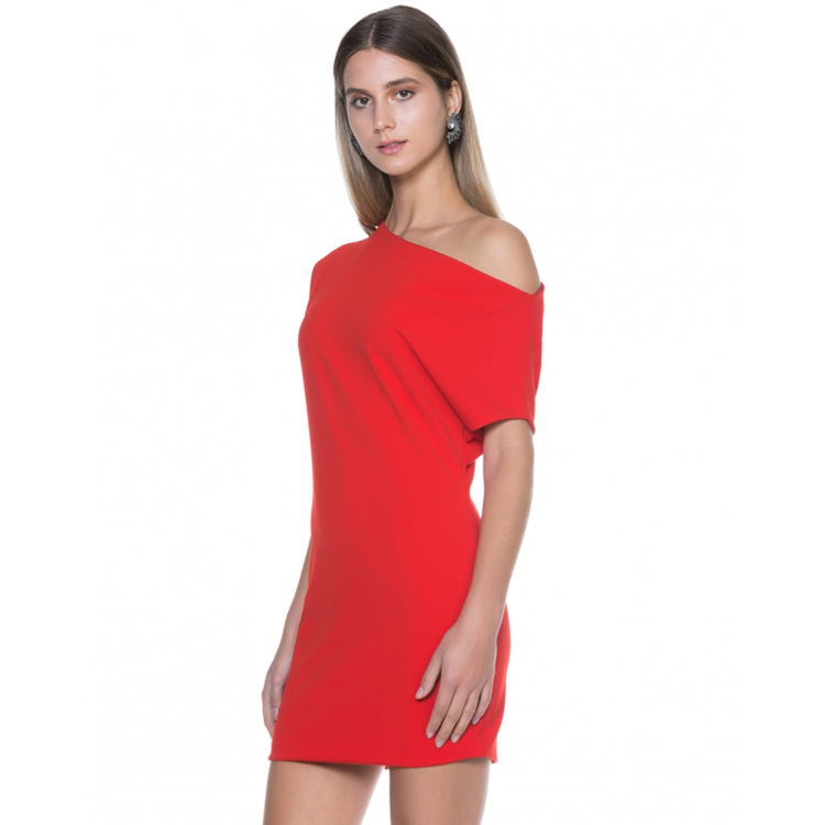 OEM Women Clothing Brand One Shoulder Mini Cocktail Party Fashion Casual Dresses