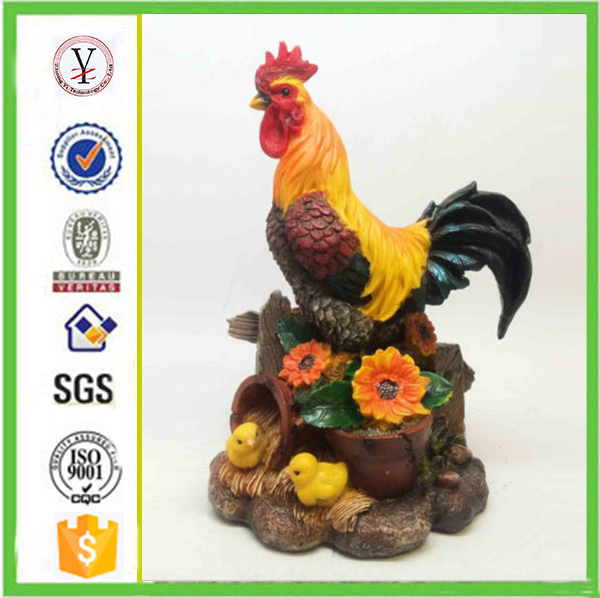 factory custom-made handmade carved fashion resin decorative rooster