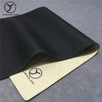 High quality manufacturer non slip private label fitness eco friendly jute custom logo hemp yoga mat with carrying strap