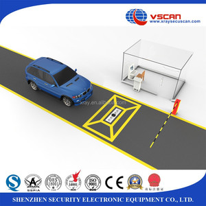 Automatic License Plate Recognition software under vehicle inspection system to check vehicle weapons