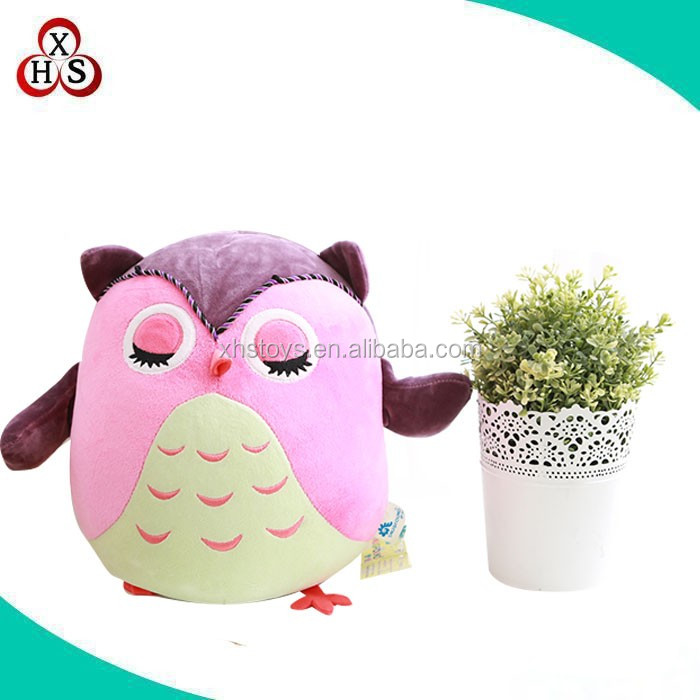 stuffed Plush Owl Pillow Kid Toy/stuffed birds toys for baby gifts