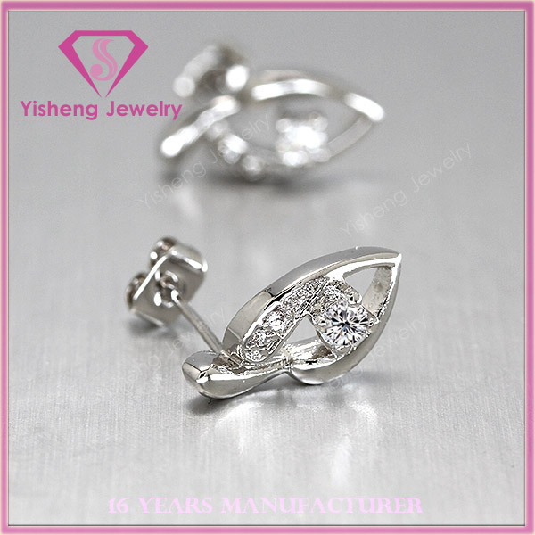 High quality sterling fashion lovey shape 925 silver jewelry