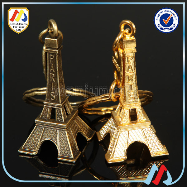 Tourist Souvenir Metal Eiffel Tower Keychains for souvenir