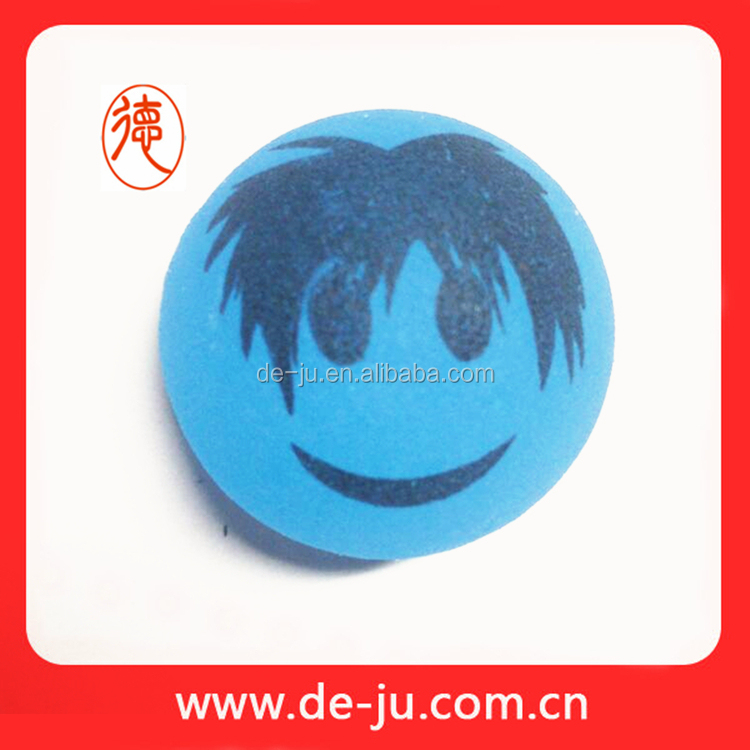 Boy Face Printing Bouncy Glow Small Hard Rubber Balls